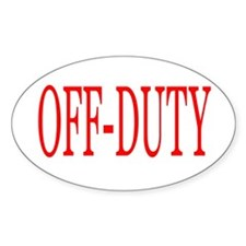 Off-Duty (Red) Decal