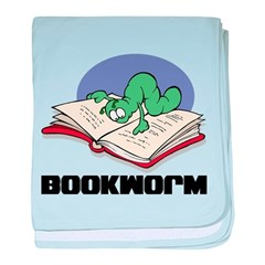 Bookworm Book Lovers baby blanket