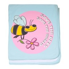 Save The Bees baby blanket