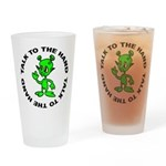 Talk To The Hand Alien Pint Glass