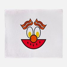Funny Food Face Throw Blanket