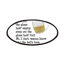 Half Glass Of Beer Patches