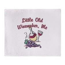 Little Old Winemaker Throw Blanket