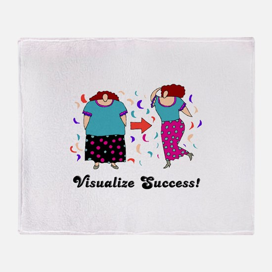 Visualize Success Diet Throw Blanket