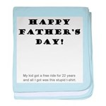 Humorous Father's Day baby blanket