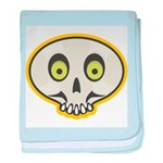 Skull Halloween baby blanket