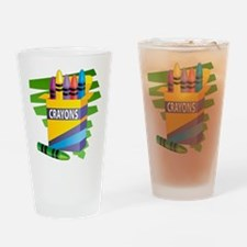 Crayons Pint Glass