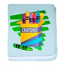 Crayons baby blanket