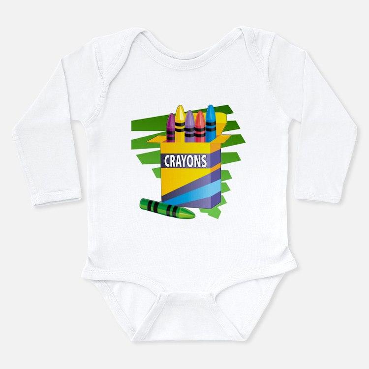 Crayons Long Sleeve Infant Bodysuit