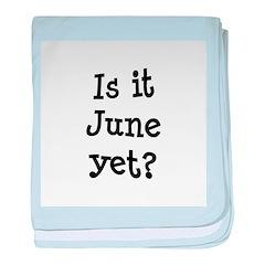 Is It June Yet School baby blanket