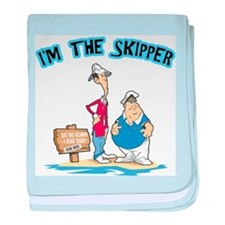 I'm The Skipper baby blanket