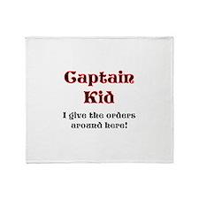 Captain Kid Pirate Throw Blanket