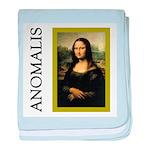 Mona Lisa Anagram baby blanket