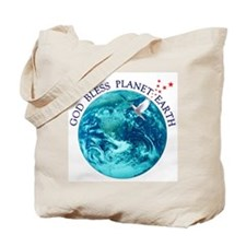 God Bless Planet Earth Tote Bag