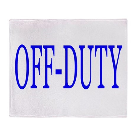 Off-Duty (Blue) Throw Blanket