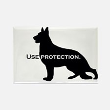 Use Protection. K9. Rectangle Magnet
