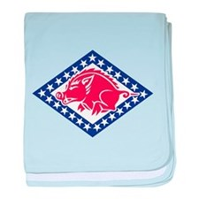Cute National guard baby blanket