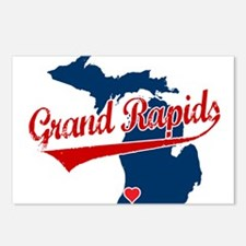 Grand Rapids, where the heart Postcards (Package o