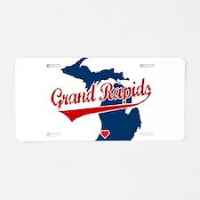 Grand Rapids, where the heart Aluminum License Pla