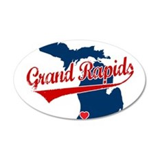 Grand Rapids, where the heart 22x14 Oval Wall Peel