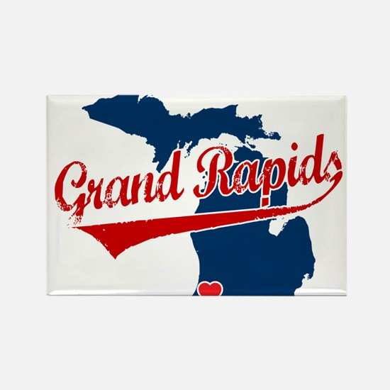 Grand Rapids, where the heart Rectangle Magnet