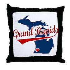 Grand Rapids, where the heart Throw Pillow