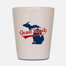 Grand Rapids, where the heart Shot Glass