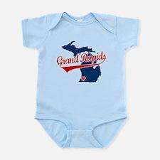 Grand Rapids, where the heart Infant Bodysuit