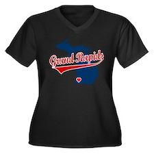 Grand Rapids, where the heart Women's Plus Size V-