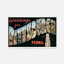 Pittsburgh Rectangle Magnet