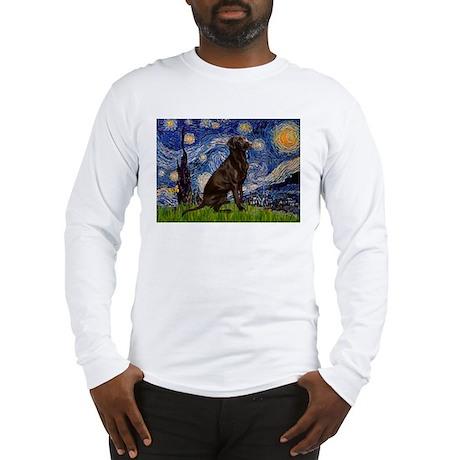 Starry Chocolate Lab Long Sleeve T-Shirt