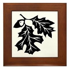 Oak Leaves Framed Tile