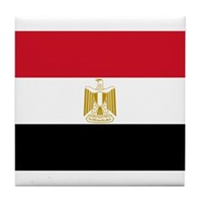 Egyptian National Flag Tile Coaster