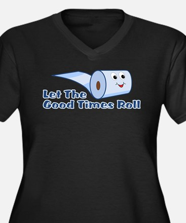 Let The Good Times Roll Women's Plus Size V-Neck D