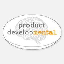 Product DevelopMENTAL Oval Decal
