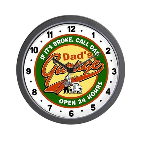 Dad's Garage Wall Clock