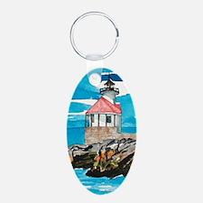 Cuckholds Lighthouse Oval Keychain