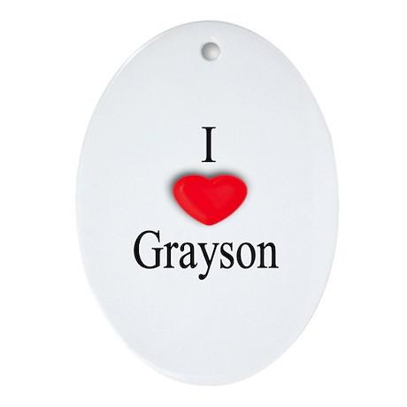 Grayson Oval Ornament