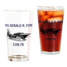 USS GERALD R. FORD Pint Glass