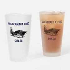 USS GERALD R. FORD Pint Glass