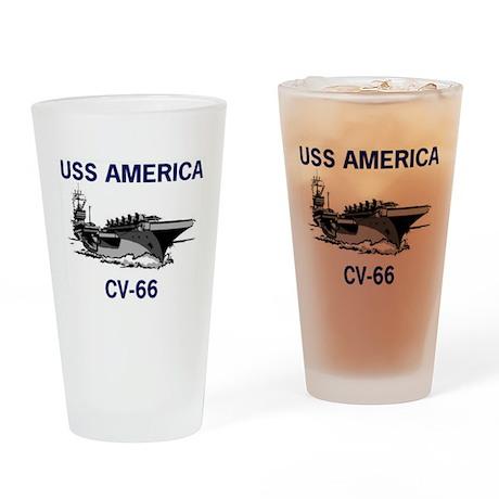 USS AMERICA CV-66 Pint Glass