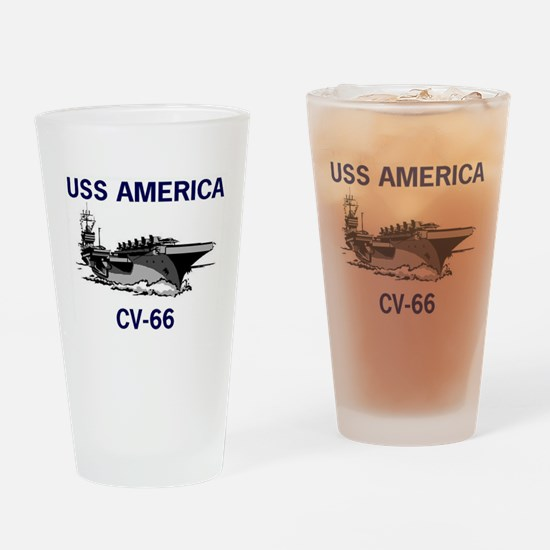 USS AMERICA CV-66 Pint Glass