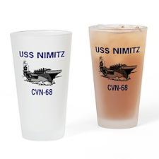 USS NIMITZ Pint Glass