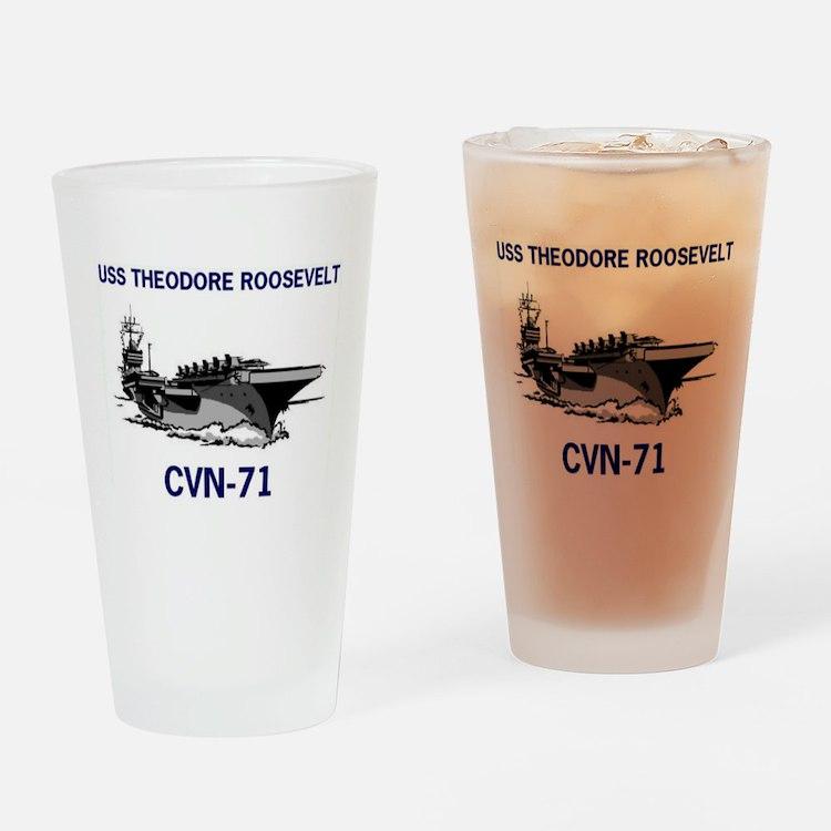 USS THEODORE ROOSEVELT Pint Glass