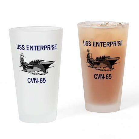 USS ENTERPRISE Pint Glass
