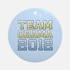 Team Obama 2012 Ornament (Round)