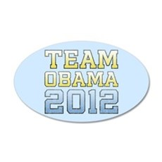 Team Obama 2012 22x14 Oval Wall Peel