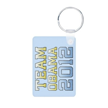 Team Obama 2012 Aluminum Photo Keychain