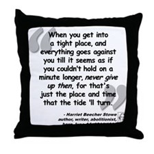 Stowe Never Quote Throw Pillow