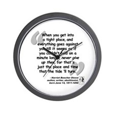 Stowe Never Quote Wall Clock